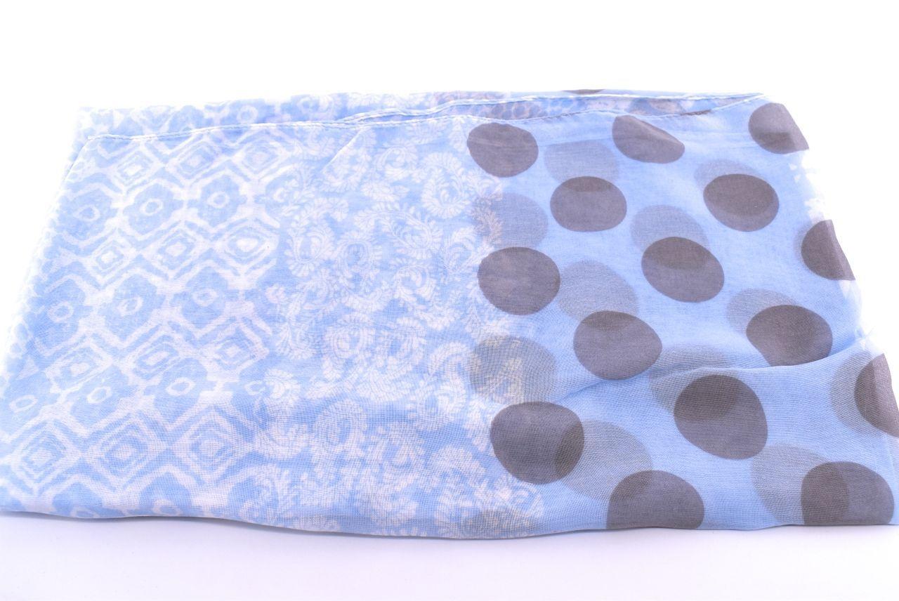 Dámský puntíkovaný šátek Arteddy - modrá