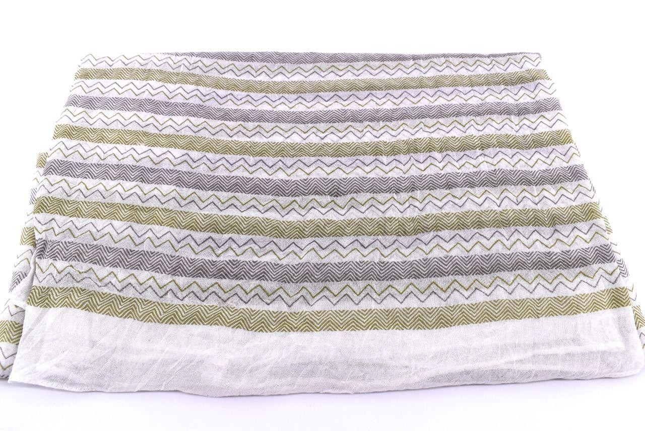 Dámský pruhovaný šátek Arteddy - zelená