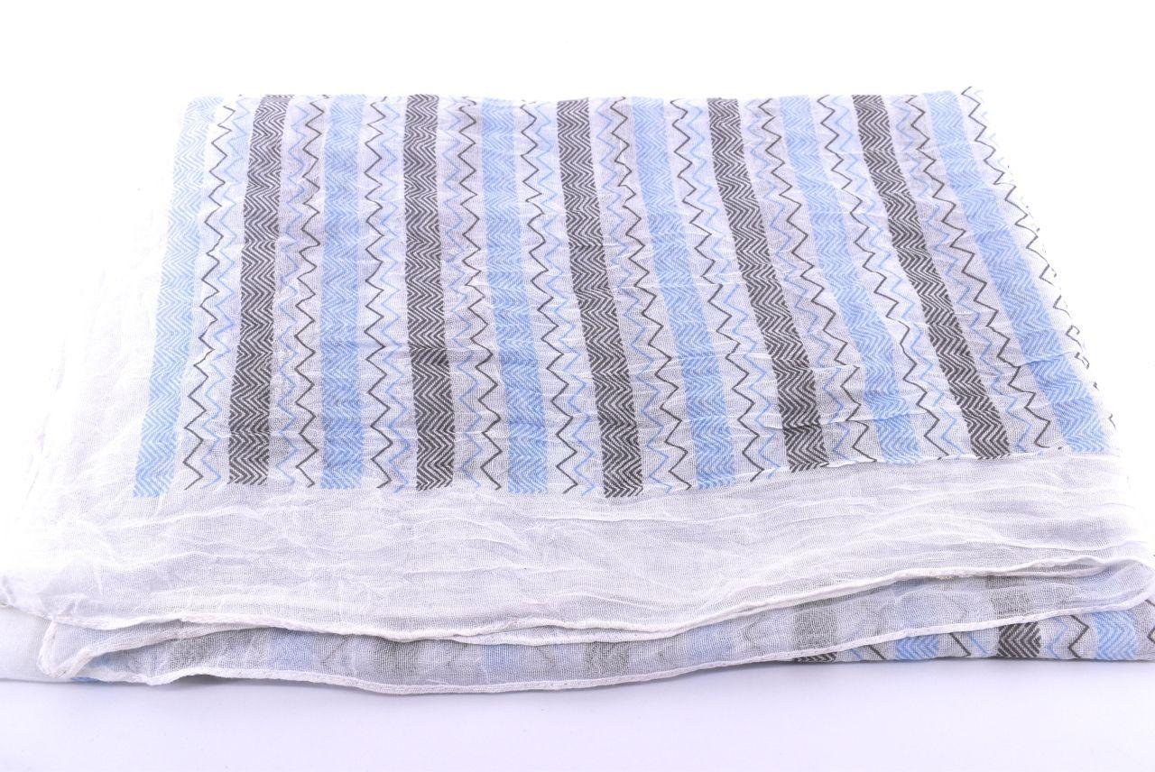 Dámský pruhovaný šátek Arteddy - světle modrá