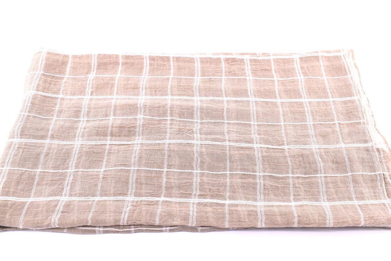 Dámský šátek s potiskem čtverců Arteddy -béžová