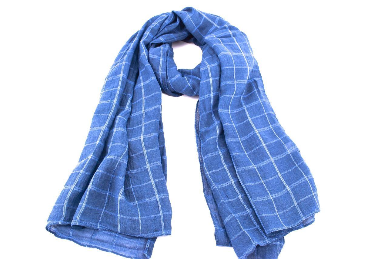 Dámský šátek s potiskem čtverců Arteddy - modrá