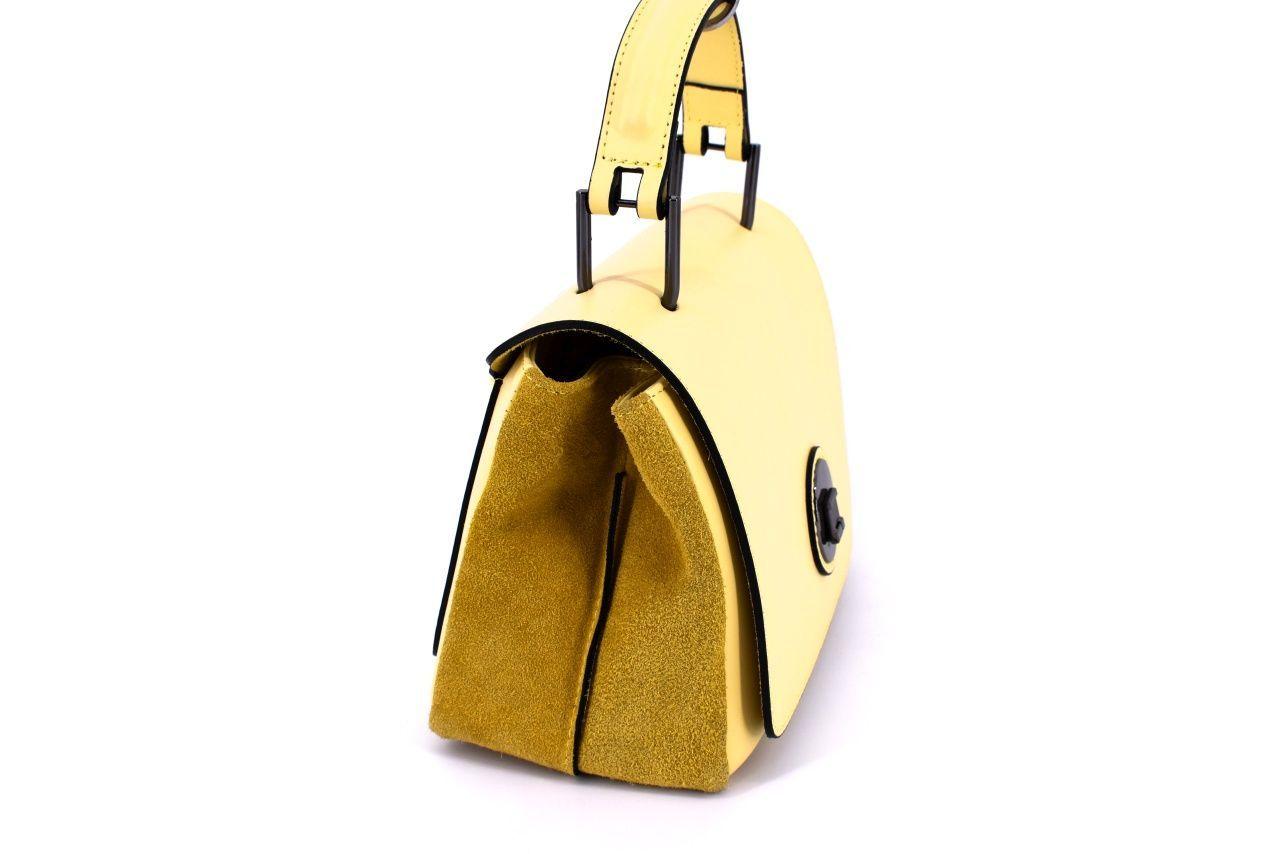 Dámská kožená kabelka Arteddy - žlutá 34895