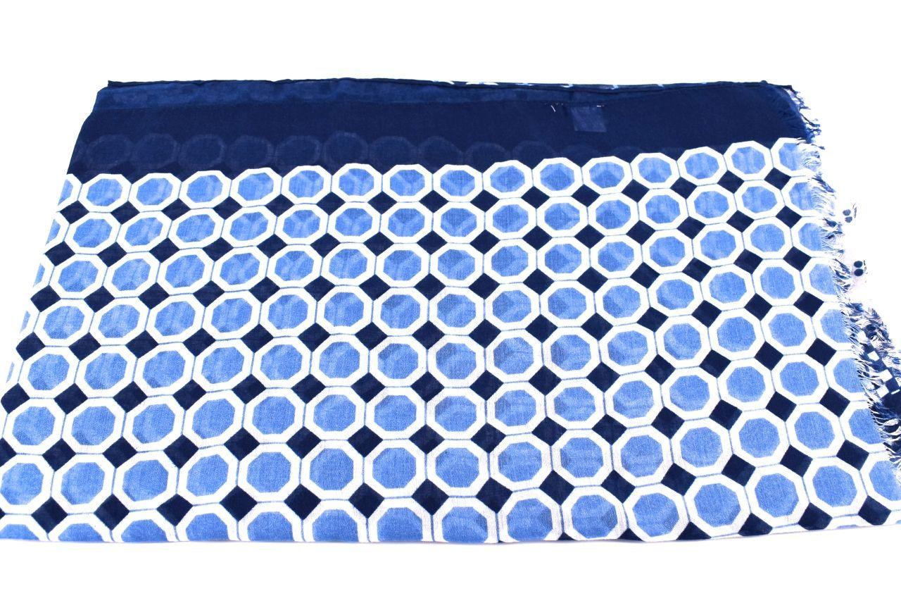 Dámská šála se vzorem kolečka Arteddy - modrá