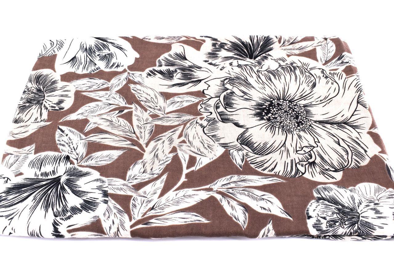 Dámský květovaný šátek Arteddy - černá