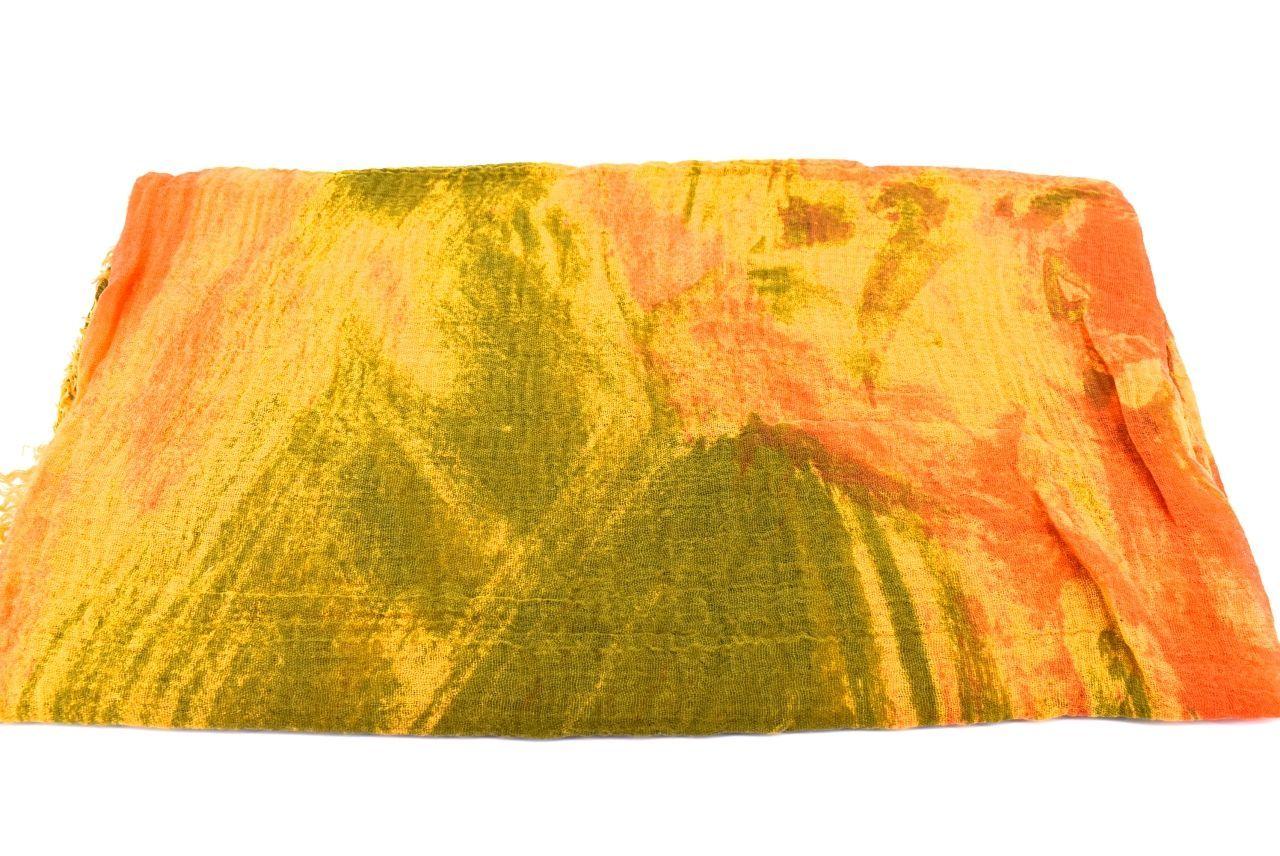 Dámský šátek s potiskem Arteddy - žlutá