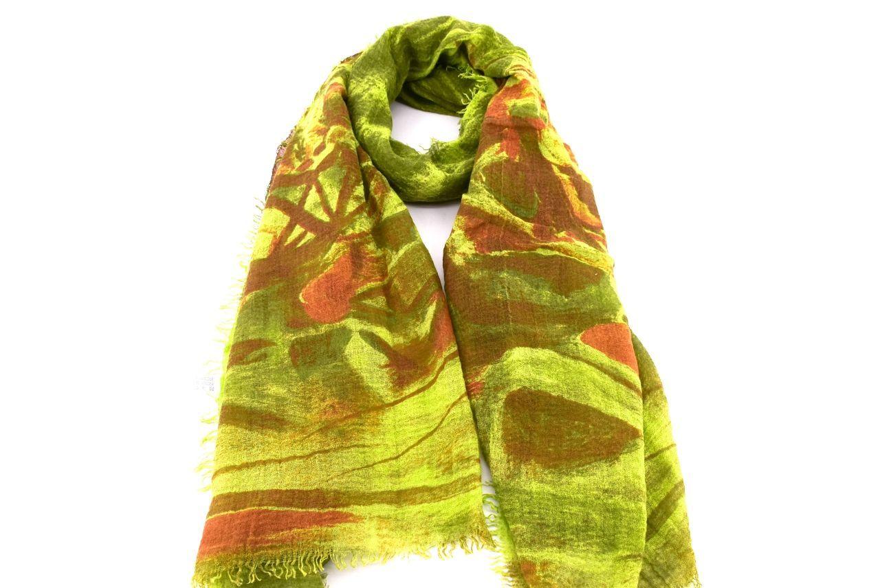 Dámský šátek s potiskem Arteddy - zelená