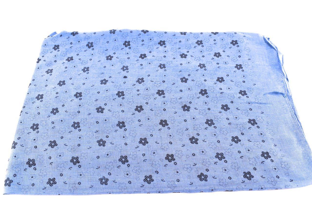 Dámský šátek s kytičkama Arteddy - modrá