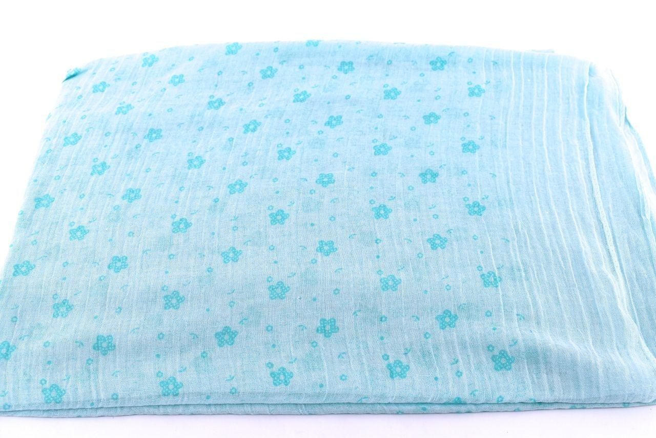 Dámský šátek s kytičkama Arteddy - zelená