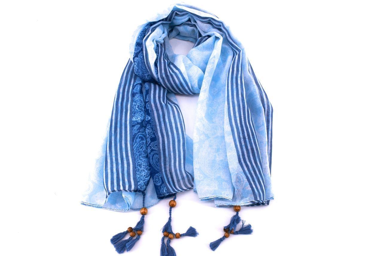 Dámský šátek s kašmírovým vzorem Arteddy - lososová