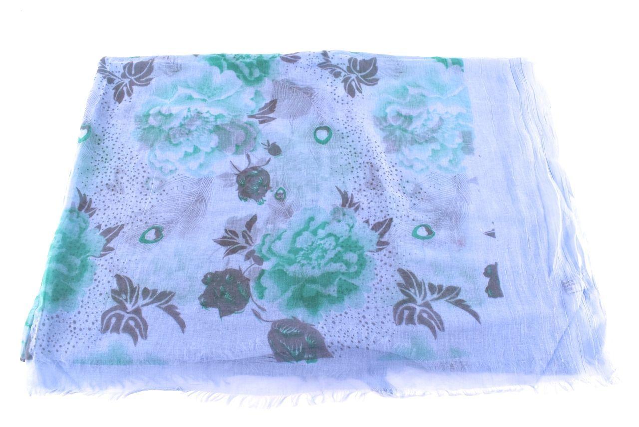 Dámský šátek s potiskem růží Arteddy - modrá