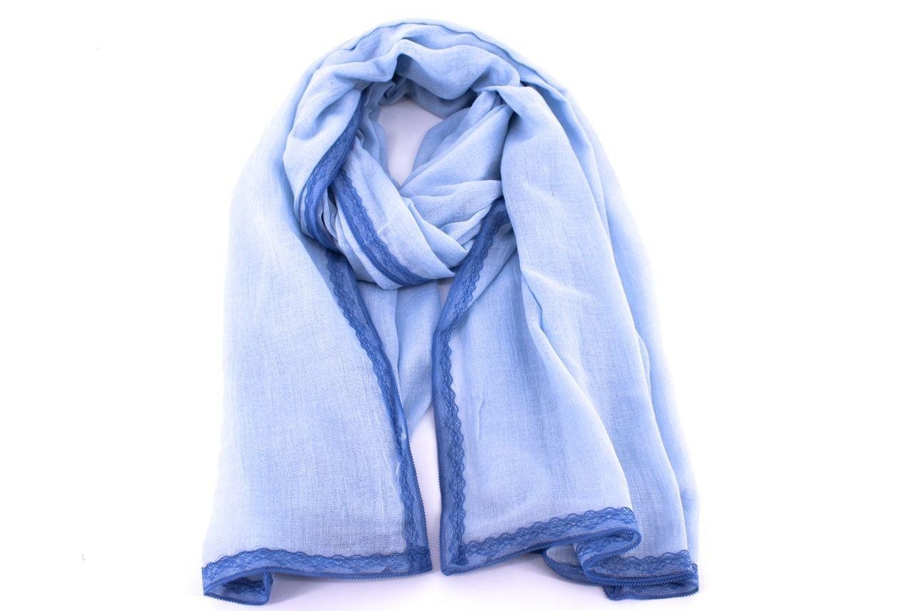 Levně Dámská jednobarevná šála Arteddy -modrá