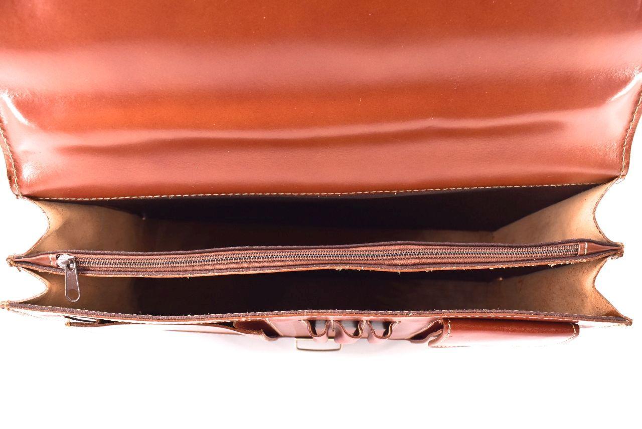 Kožená aktovka Arteddy - 2 komorová černá 1997