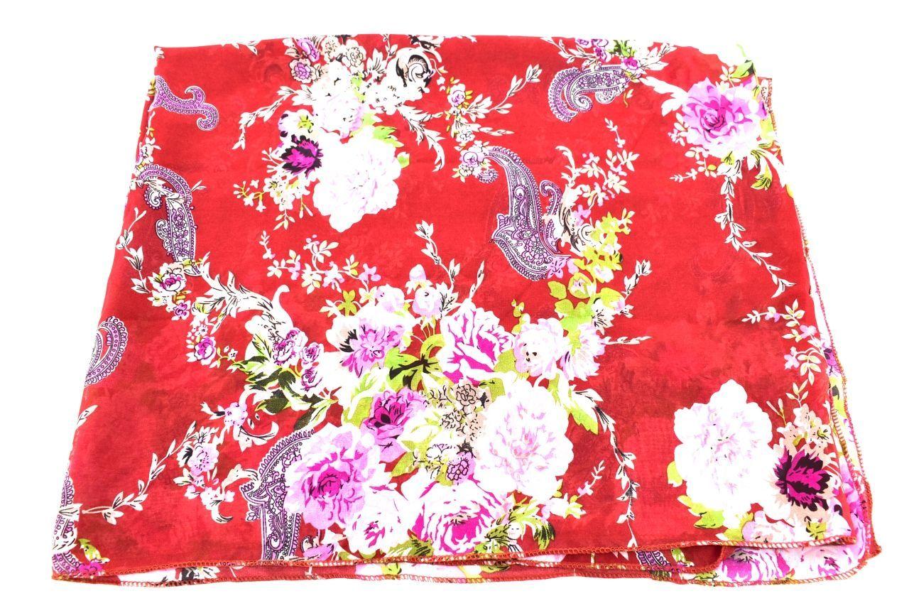 Dámský květovaný šátek Arteddy - červená