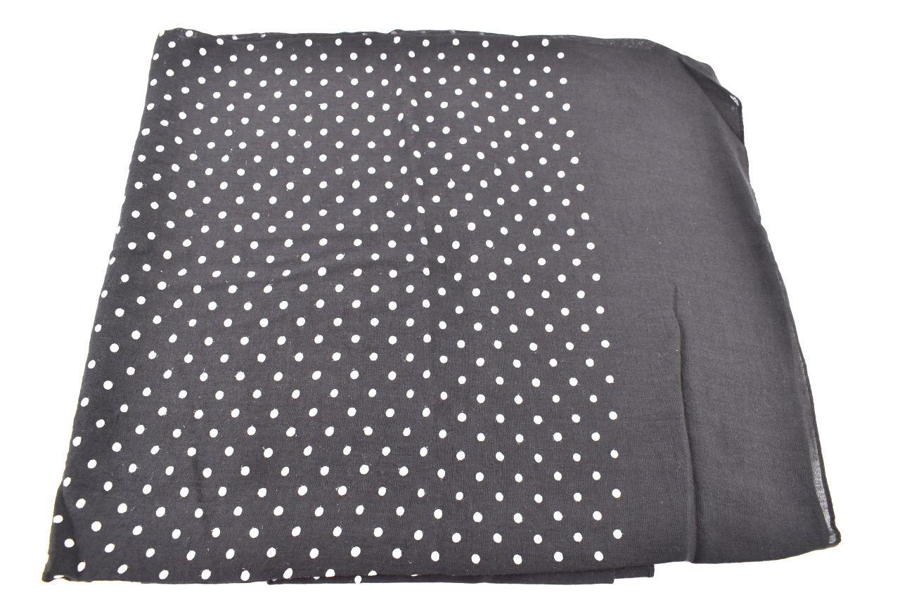 Dámský puntíkovaný šátek Arteddy - černá