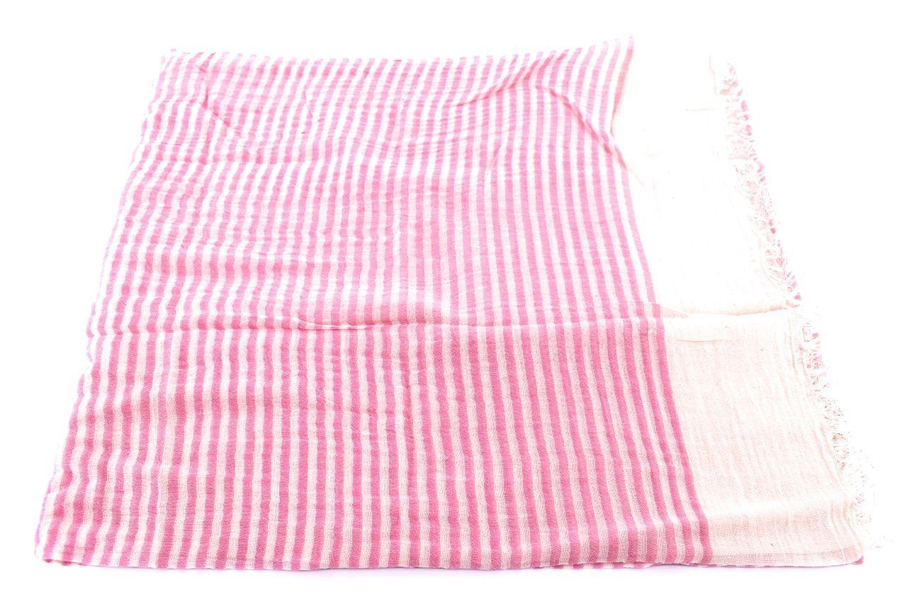 Dámský pruhovaný šátek Arteddy - růžová