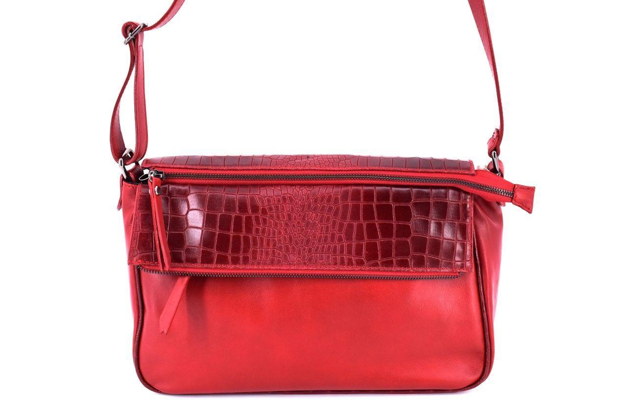 Dámská kožená kabelka crossbody Arteddy - červená 31019