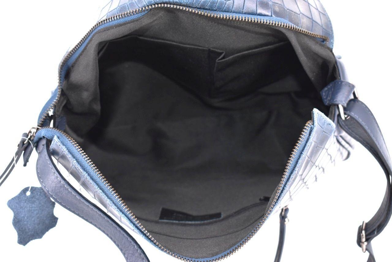 Dámská kožená kabelka crossbody Arteddy - tmavě šedá 31019