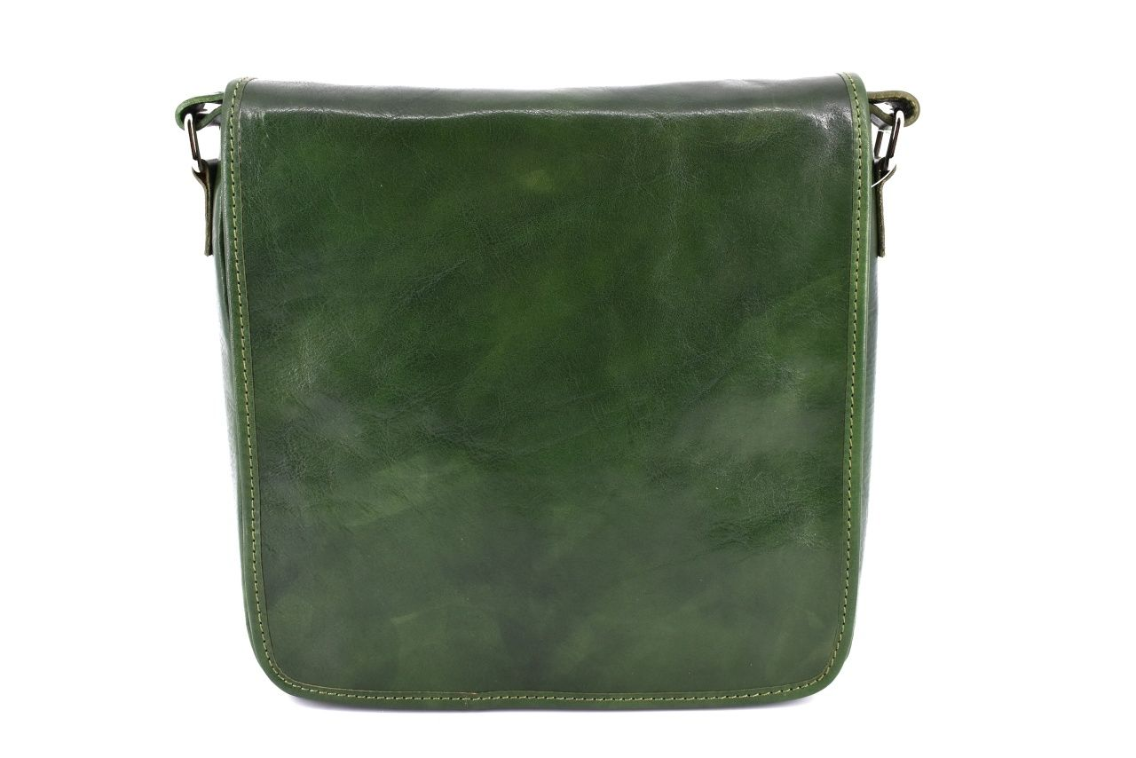 Kožená taška přes rameno crossbody - zelená 29620