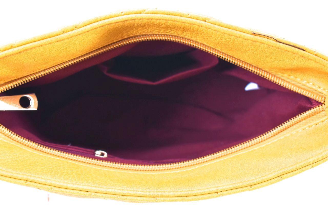 Dámská/dívčí prošívaná kabelka crossbody - červená 36020