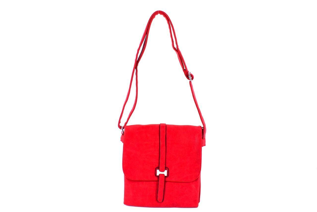 Dámská kabelka crossbody červená 36040