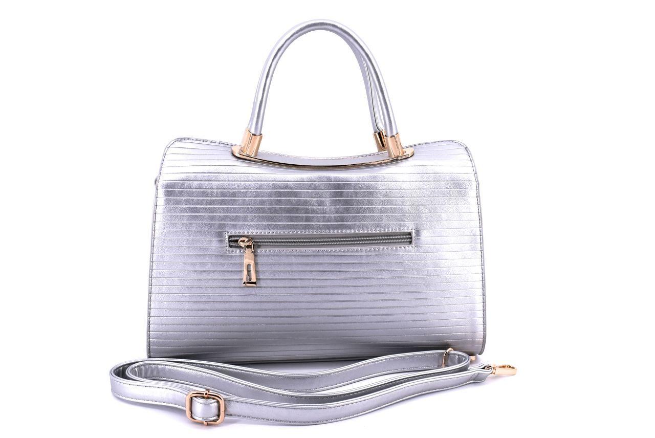 Dámská kabelka stříbrná 36002