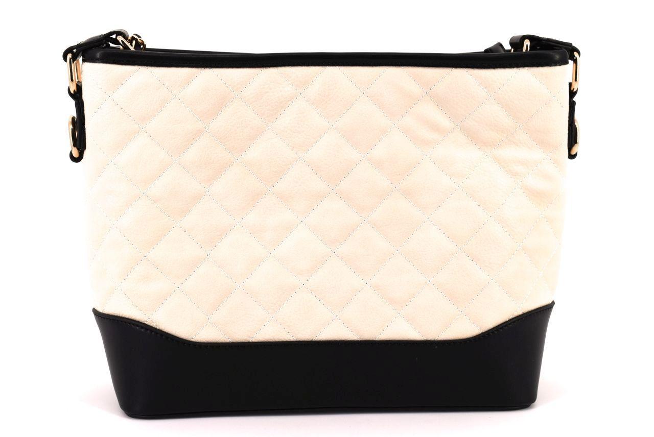 Dámská/dívčí prošívaná kabelka - krémová 36811