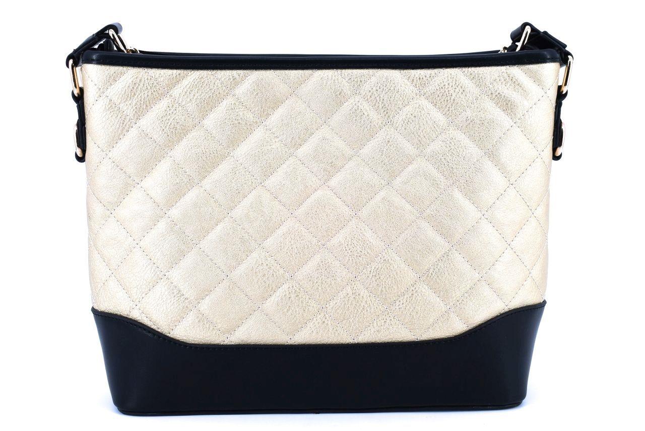 Dámská/dívčí prošívaná kabelka - zlatá 36811