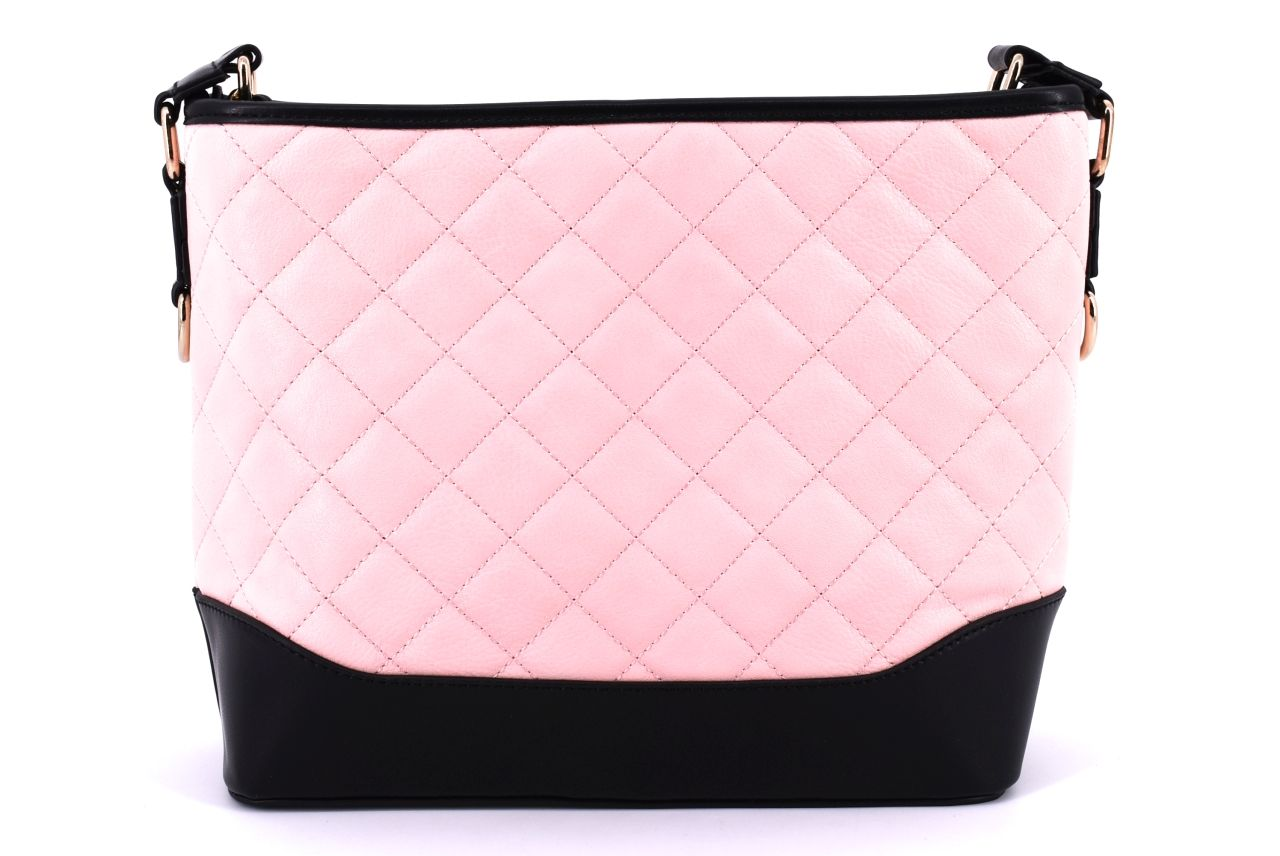 Dámská/dívčí prošívaná kabelka - světle růžová 36811