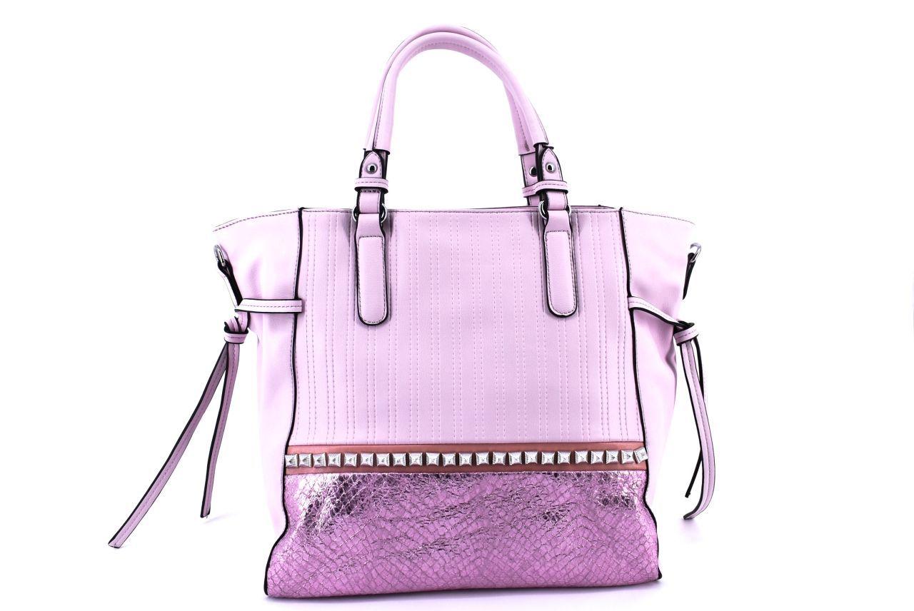 Dámská kabelka růžová 36088