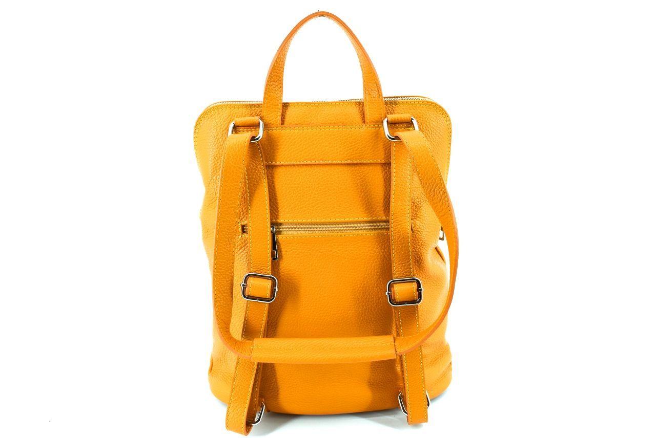 Dámský kožený batoh a kabelka v jednom / Arteddy - světle hnědá 36933