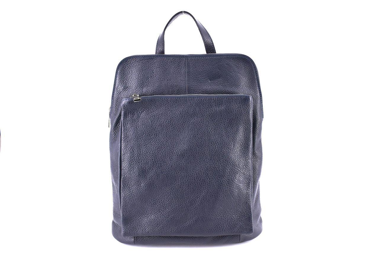 Dámský kožený batoh a kabelka v jednom / Arteddy - tmavě modrá 36933