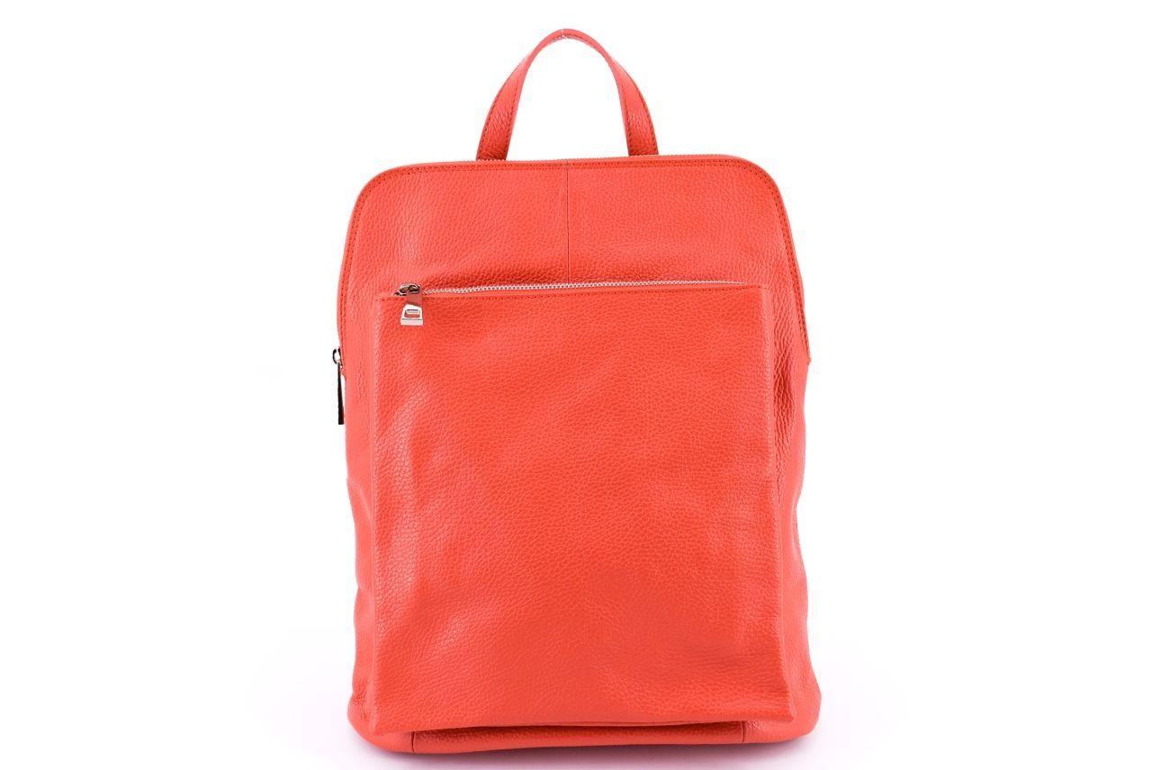 Dámský kožený batoh a kabelka v jednom / Arteddy - lososová 36933