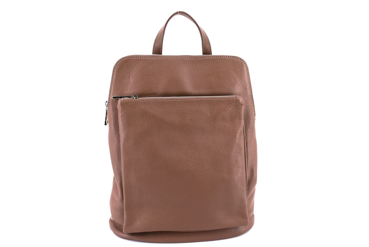 Dámský kožený batoh a kabelka v jednom / Arteddy - taupe 36933