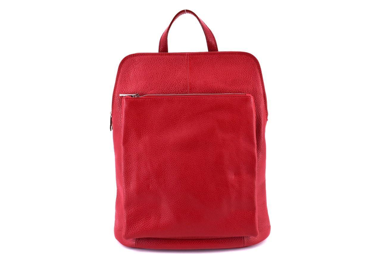 Dámský kožený batoh a kabelka v jednom / Arteddy - červená 36933