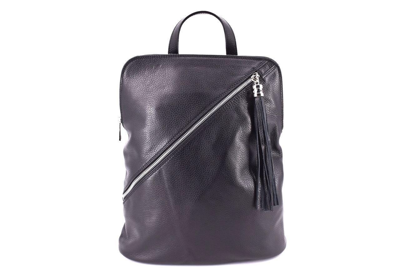 Dámský kožený batoh a kabelka v jednom /Arteddy - černá 36932
