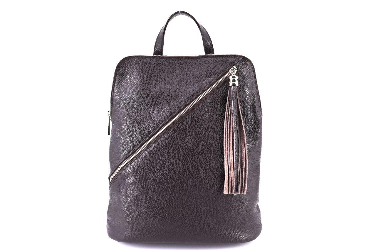 Dámský kožený batoh a kabelka v jednom /Arteddy - tmavě hnědá 36932