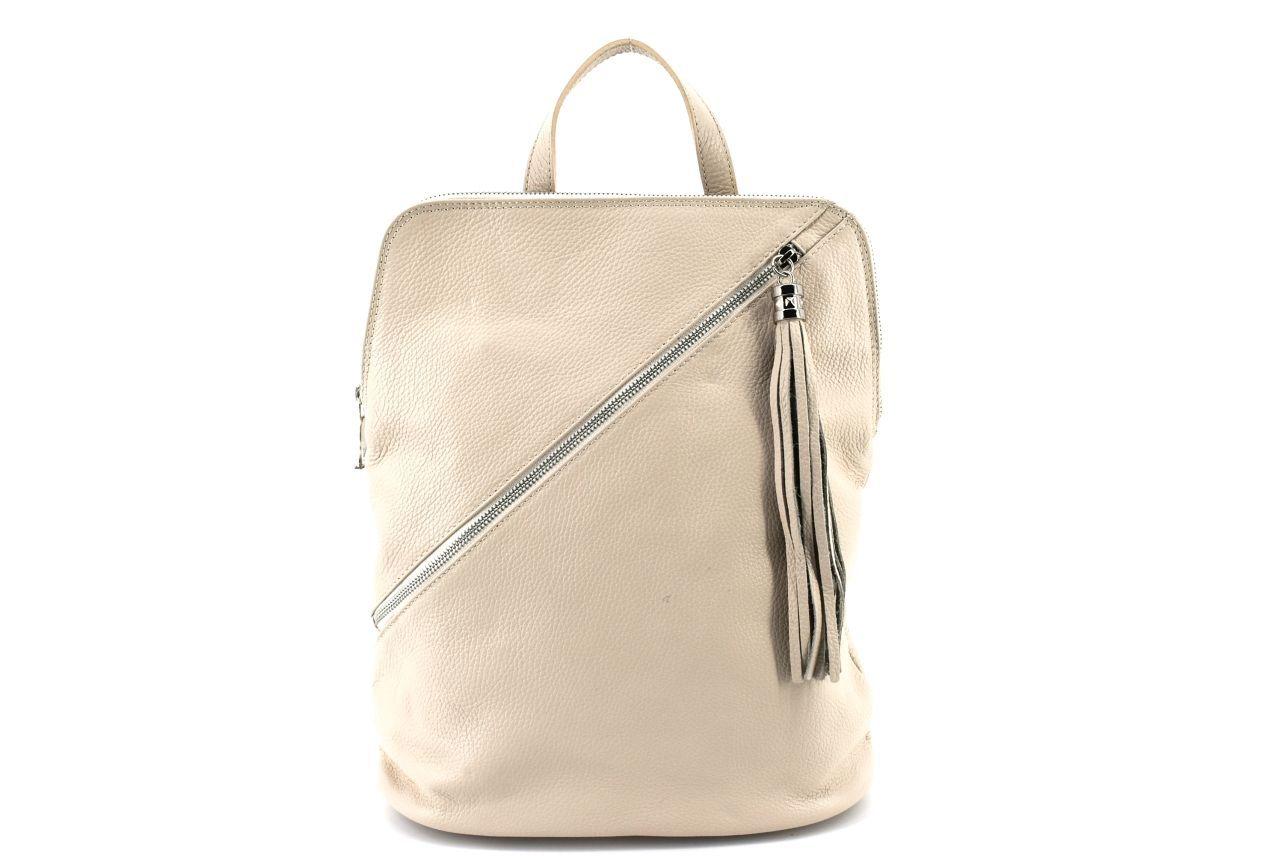 Dámský kožený batoh a kabelka v jednom /Arteddy - béžová 36932