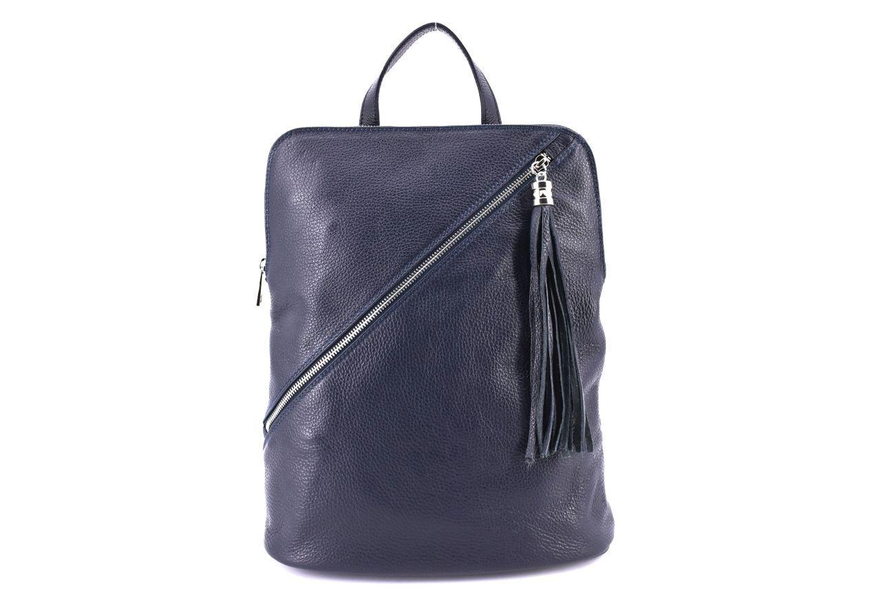 Dámský kožený batoh a kabelka v jednom /Arteddy - tmavě modrá 36932