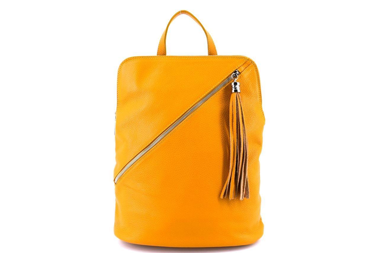 Dámský kožený batoh a kabelka v jednom /Arteddy - hořčicová 36932