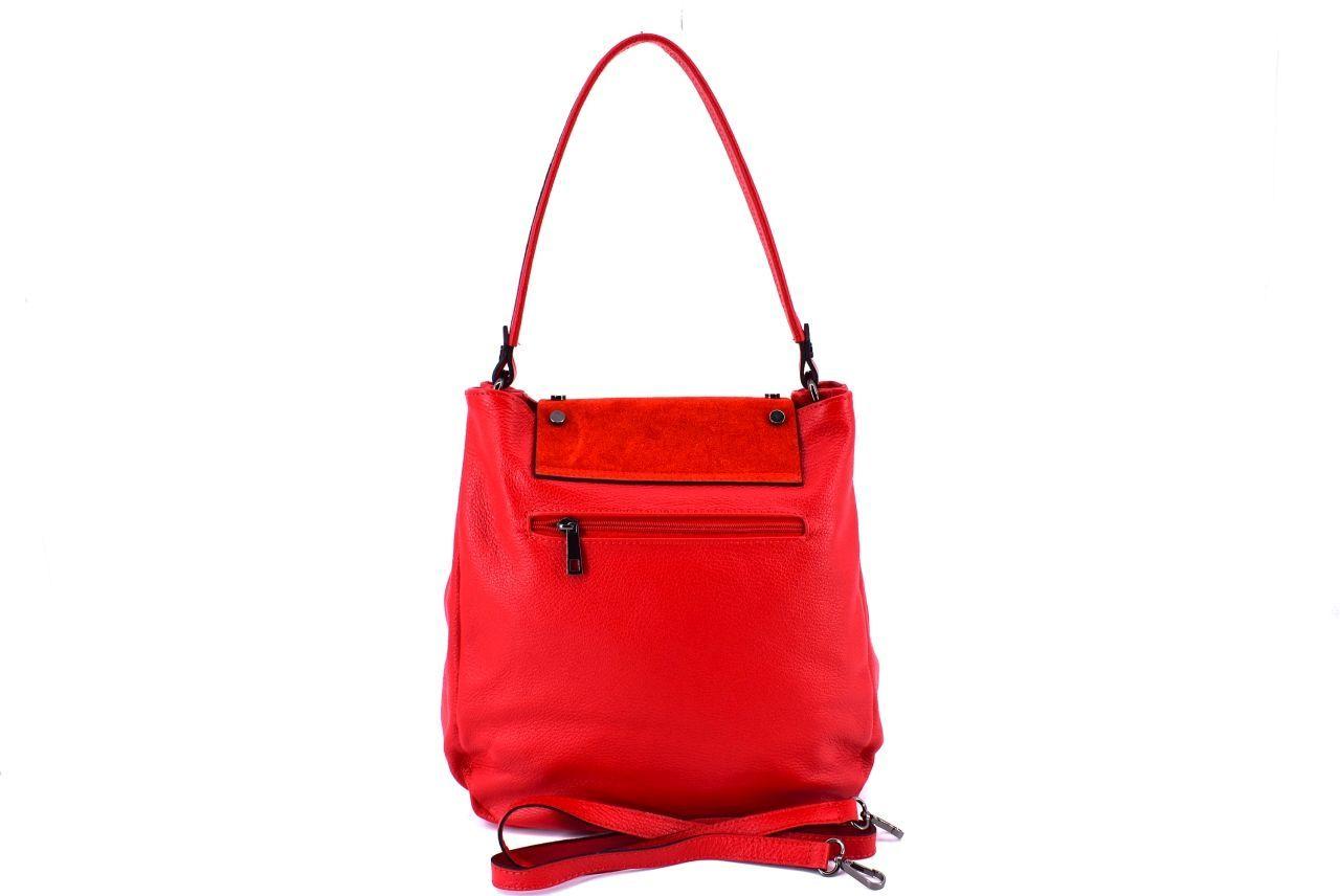 Dámská kožená kabelka s klopnou Arteddy - vínová 36895