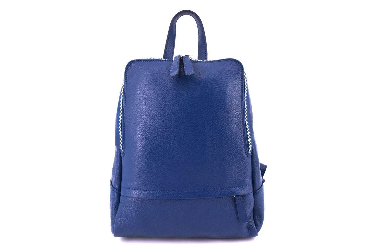 Dámský kožený batoh Arteddy - modrá 36931