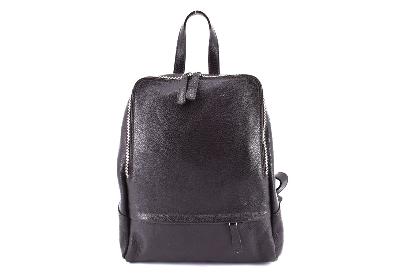 Dámský kožený batoh Arteddy - tmavě hnědá 36931