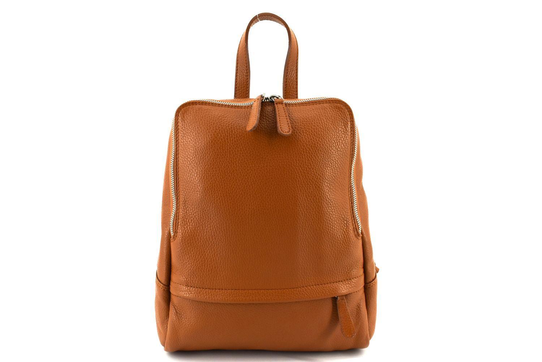 Dámský kožený batoh Arteddy - camel 36931
