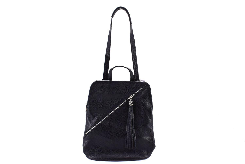 Dámský kožený batoh a kabelka v jednom /Arteddy - světle hnědá 36932