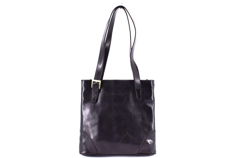 Dámská kožená kabelka Arteddy - černá 29611