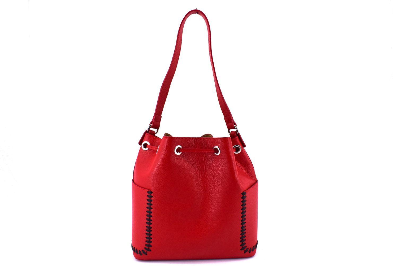 Dámská kožená kabelka Arteddy - červená 36905