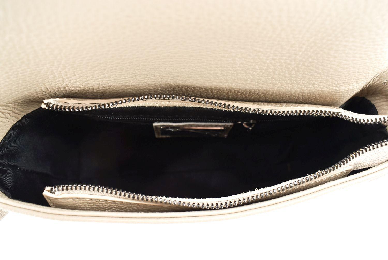 Dámská kožená kabelka crossbody Arteddy - béžová 36907