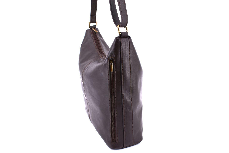 Dámská kožená kabelka crossbody Arteddy - béžová 2694