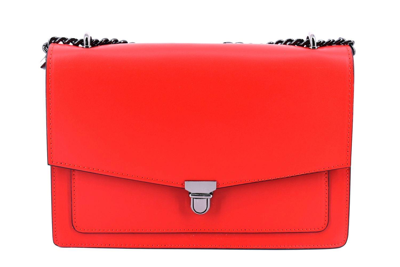 Dámská kožená kabelka / psaníčko Arteddy - červená 36893
