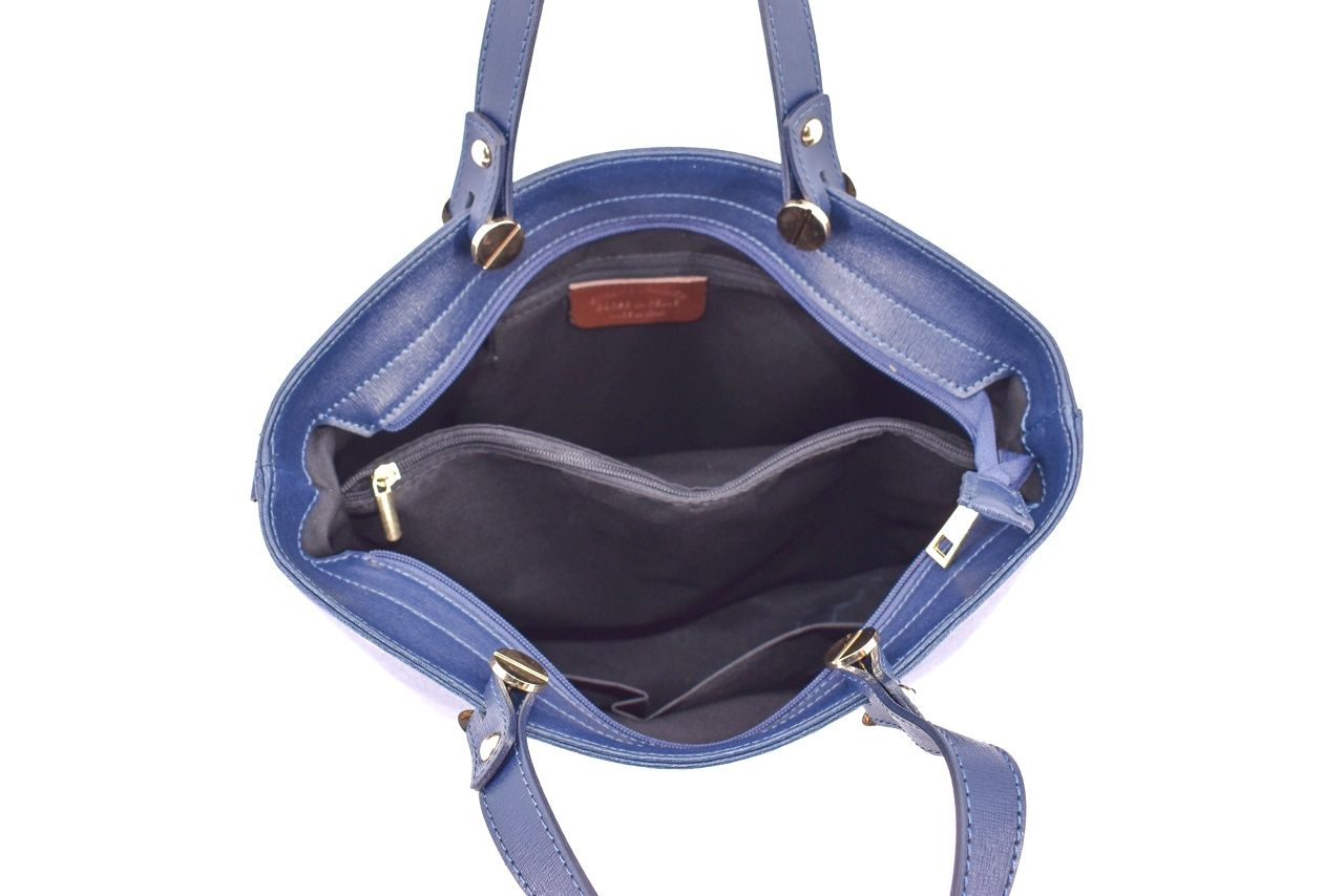 Dámská kožená kabelka Arteddy - modrá 33883